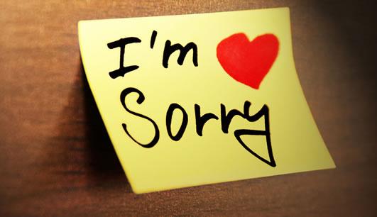 Reconheça seus erros e se desculpe